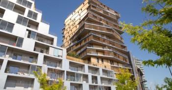 La tour HOME comporte 92 logements sociaux et 96 logements en accession. (Crédit photo : Ville de Paris)